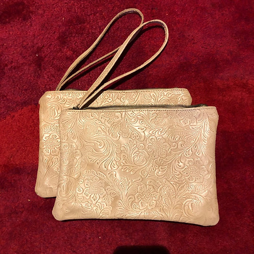 Embossed Leather Clutch Bags