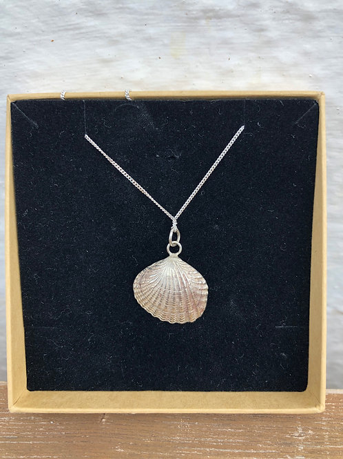 Large Silver Clam Shell
