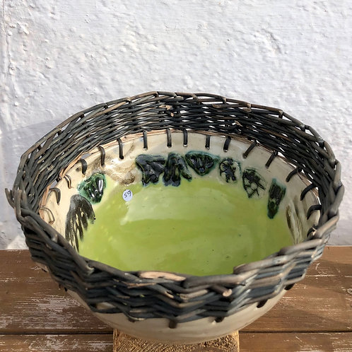 Handmade Ceramic Bowl With Willow