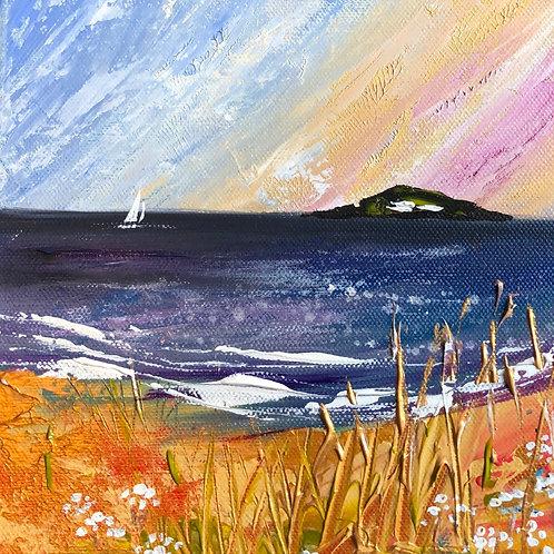 Abstract skies Burgh Island