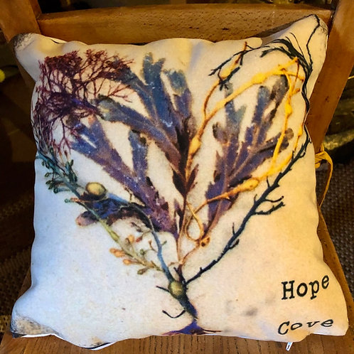 Seaweed print cushion