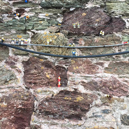 Lego Men achieve great heights in Hope Cove