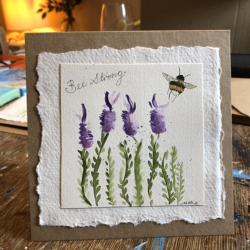 Bee Strong Lavendar gift card