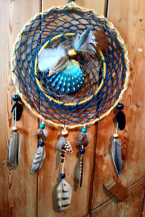 Large macrame dream catchers with fairy lights