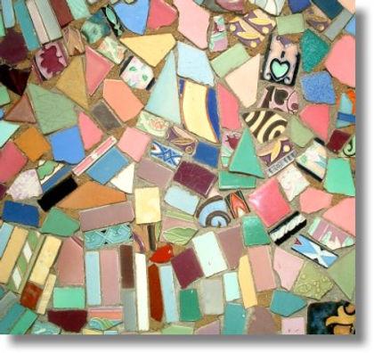 Italian Folk Art, Broken Tile Mosaic