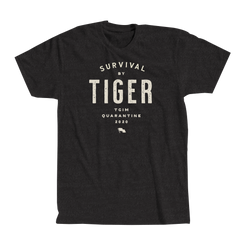 """""""SURVIVAL BY TIGER"""" TEXT TSHIRT"""