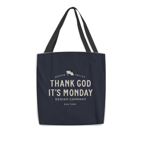 THANK GOD IT'S MONDAY TOTE - $20