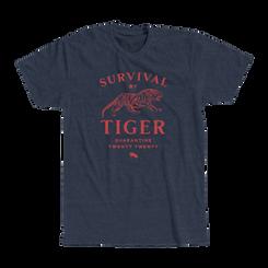 """SURVIVAL BY TIGER"" TSHIRT"
