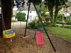 Swings and toddler slide