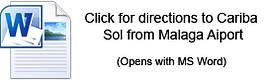 Directions to Cariba Sol office from Malaga Airport