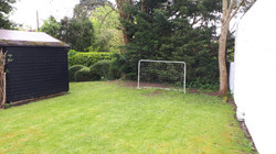 Ball game area and football net