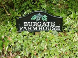 Burgate Farmhouse entrance