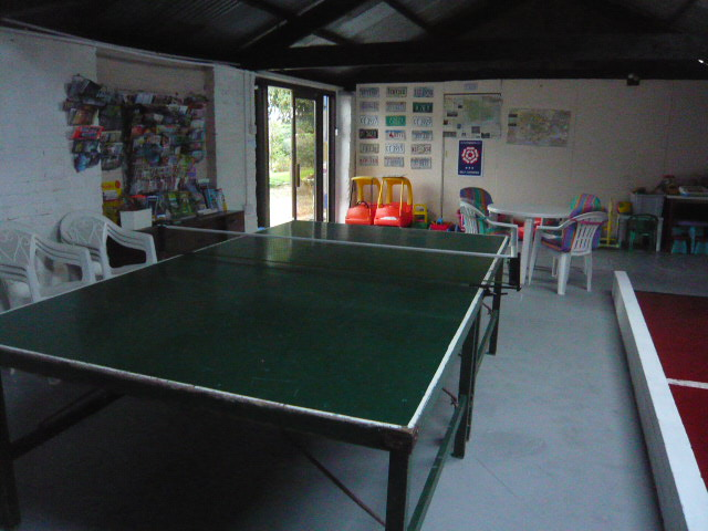 Table Tennis in the Games Barn
