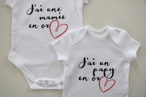 """Body """"J'ai un(e) mamie/papy en or"""""""""""