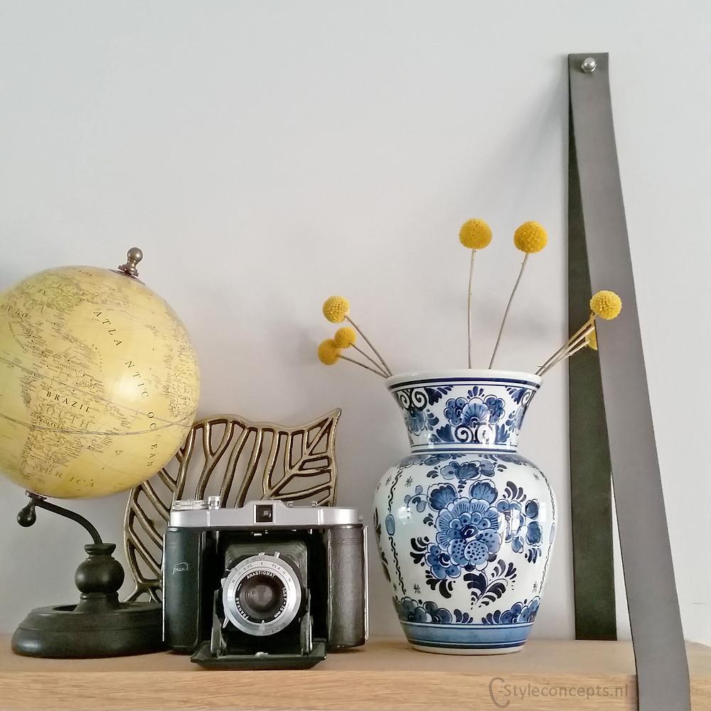 Persoonlijk interieur met vintage items