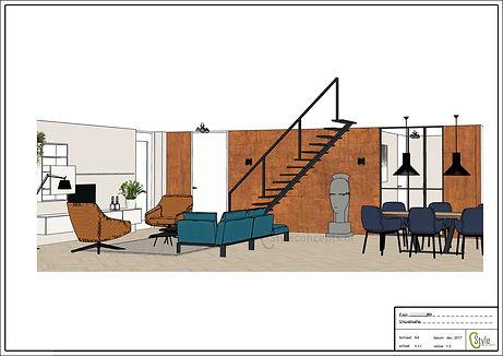 Visualisatie interieurontwerp Bunschoten-Spakenburg - C-Style Concepts