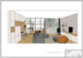 Visualisatie zithoek - interieuradvies Amersfoort - Vathorst