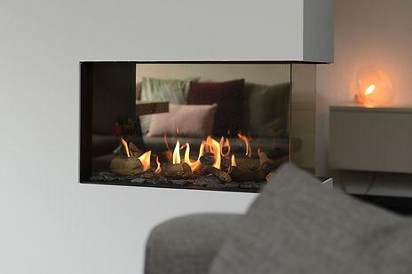 Interieuradvies Amersfoort -Vathorst. Roomdivider. Gashaad. Doorkijkhaard - C-Style Concepts