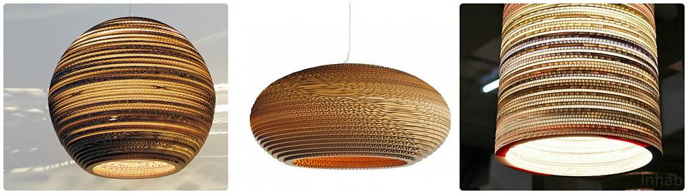 Cardboard lampen