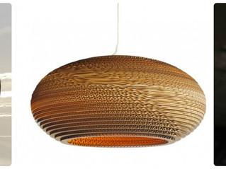 DIY lamp van karton