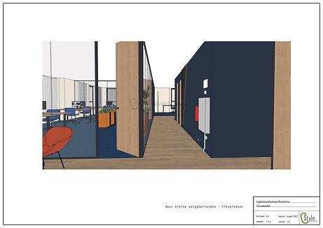 Visualisatie interieurontwerp Ingenieursbureau Boorsma Amersfoort