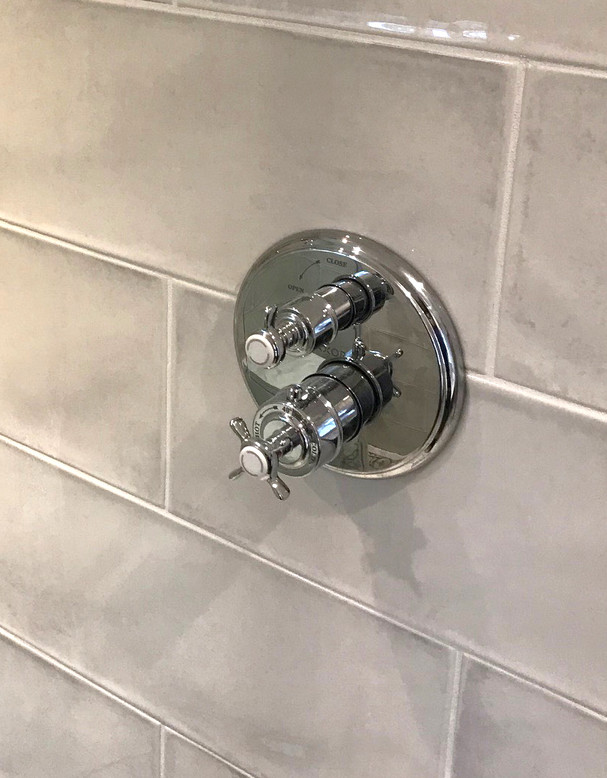 Concealed traditional shower controls