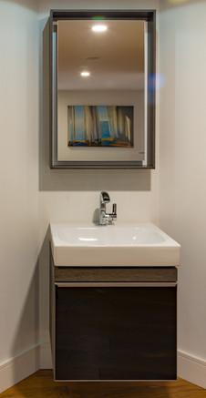 Modern wall-hung vanity units