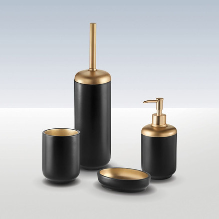 Black and bronze