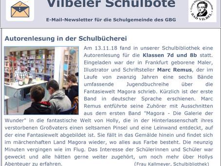 Book reading in German school