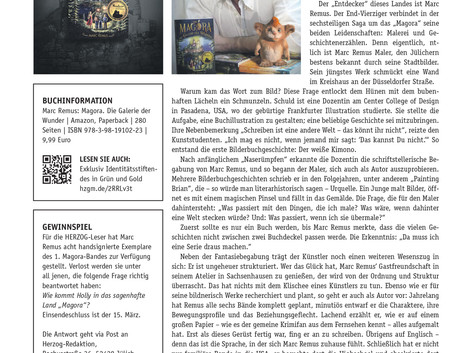 Magazine article about my books
