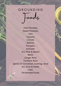 list of grounding foods