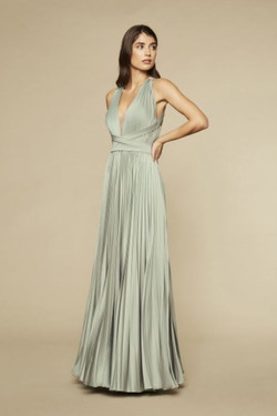 Kleid Satin Mint