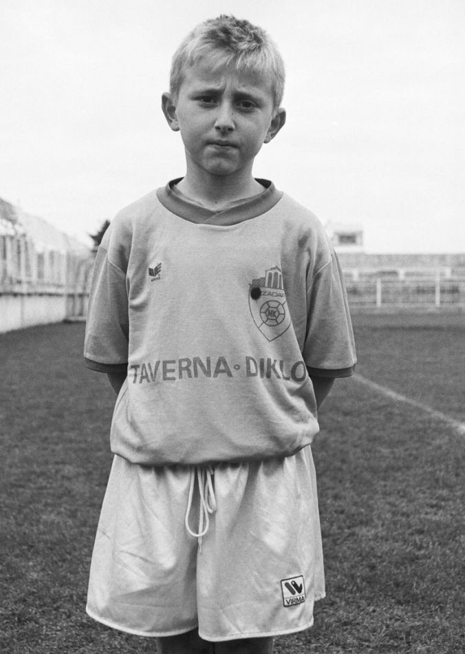 Modric, not long after moving to Zadar, where he lived as a refugee