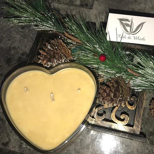 Melanin King Heart Shaped Candle