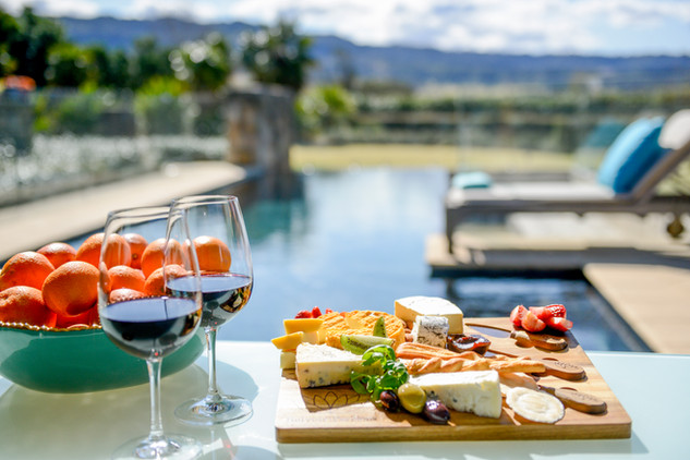 Cheese Platter by the pool!