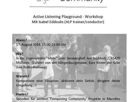 ALP Germany Workshop, with ALP Conductor - Isabel Edduks