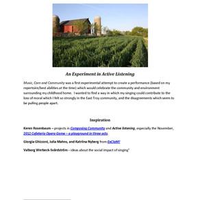 ALP Nature - Music, Corn and Community