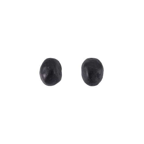 Black beans earrings