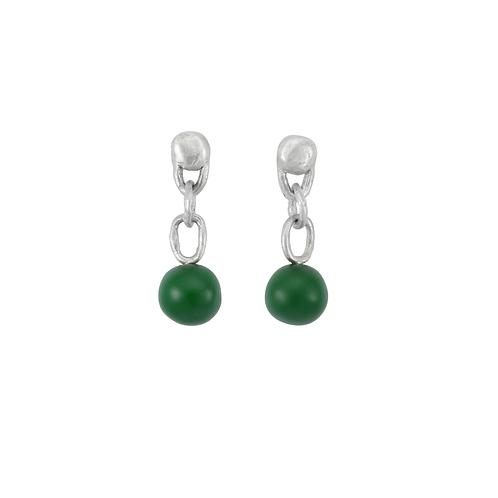 Green pops earrings