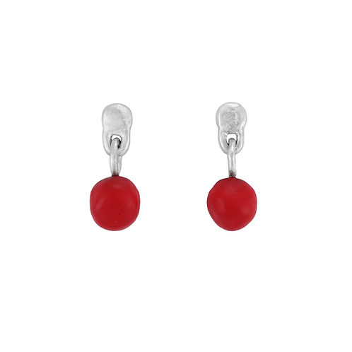 Red pops earrings