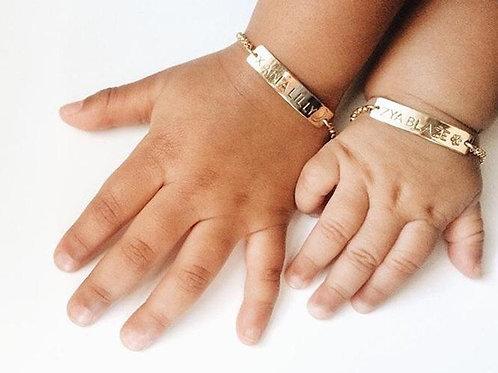 10k Gold Childs Name Bracelet