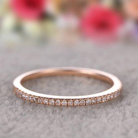 14k Single Row Diamond Ring