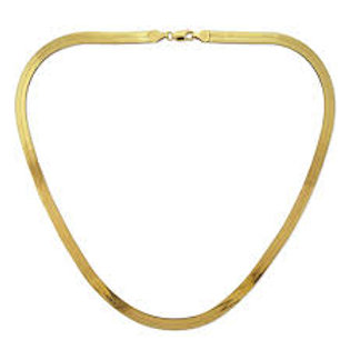 Herringbone 10k Gold Chain