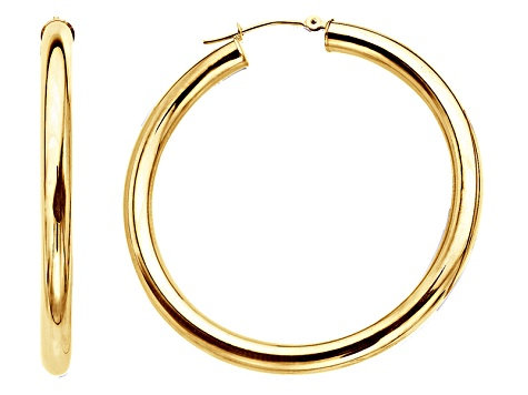 14k Solid Gold Hoops 2mm