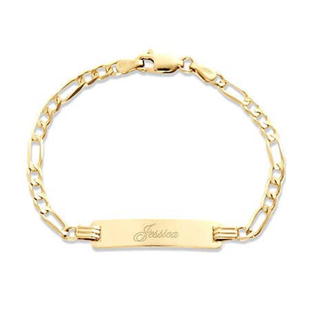Kids 10k Gold Name Bracelet