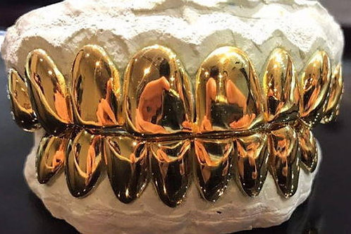 8 Top 8 Bottom 10K Gold Grill