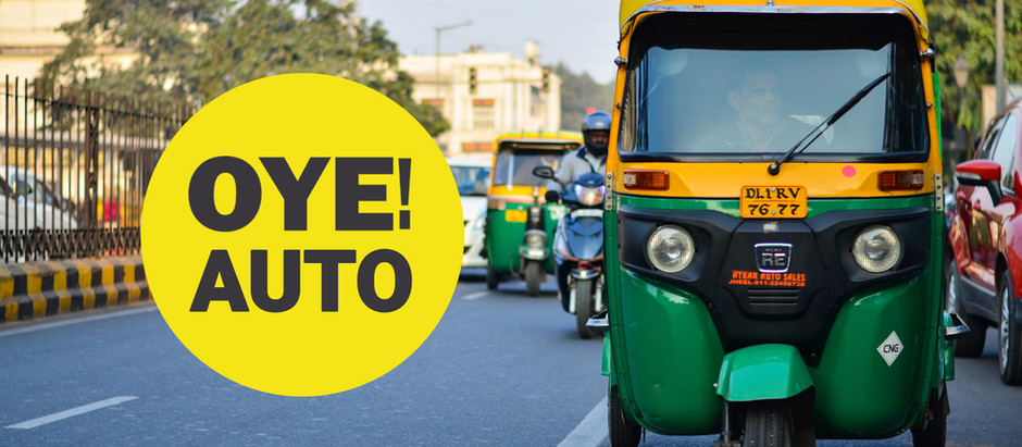 OYE! launches auto in Vaishali!