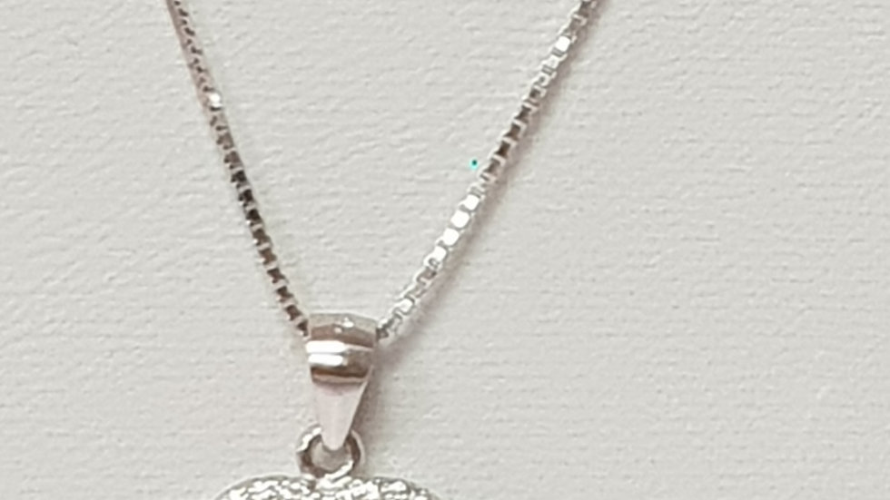 925 STERLING SILVER HEART WITH ANGEL WINGS NECKLACE