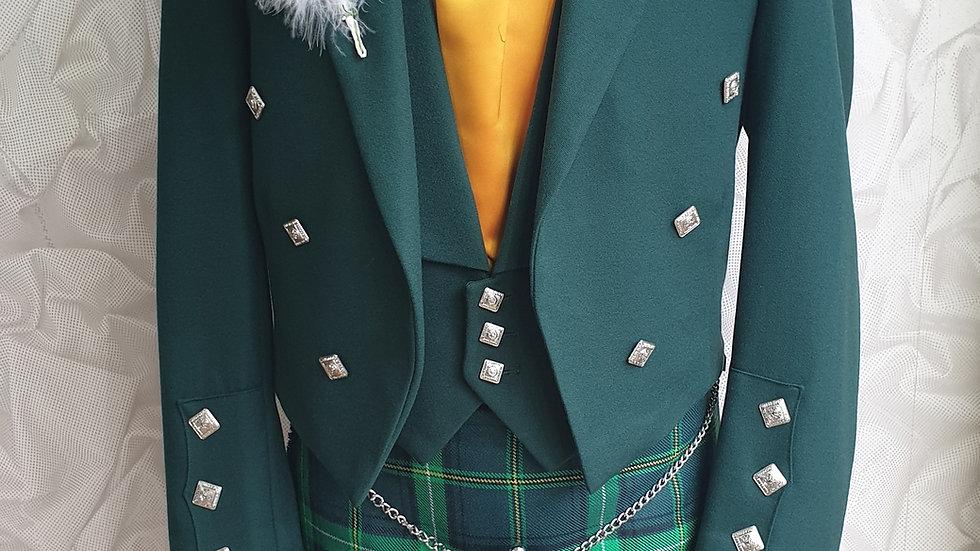 (HIRE) : FULL HIGHLAND DRESS KILT OUTFIT CELTIC TARTAN