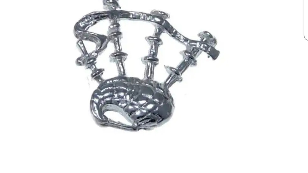 925 STERLING SILVER BAGPIPE PENDANT